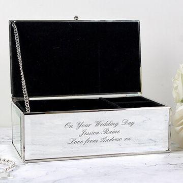 Personalised Mirrored Jewellery Box