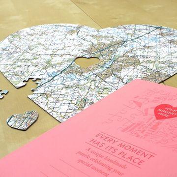 Personalised Heart Shaped Postcode Jigsaw