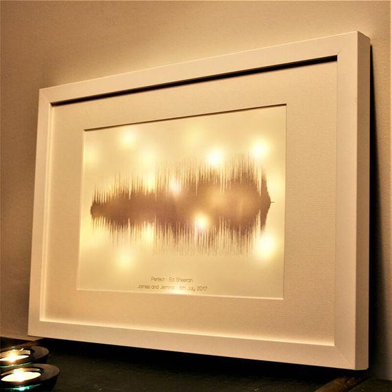 Personalised Sound Wave Light Box