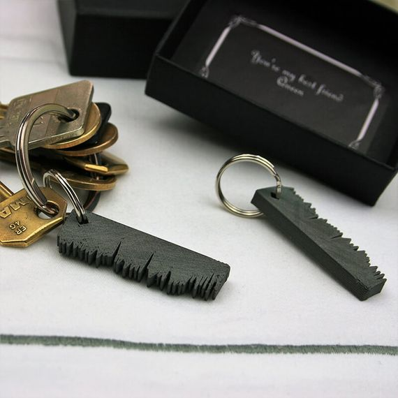Personalised Our Song Keyring Set