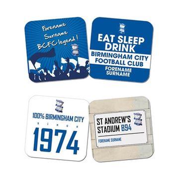 Personalised Birmingham City FC Coasters