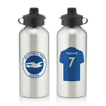 Personalised Brighton & Hove Albion FC Aluminium Water Bottle