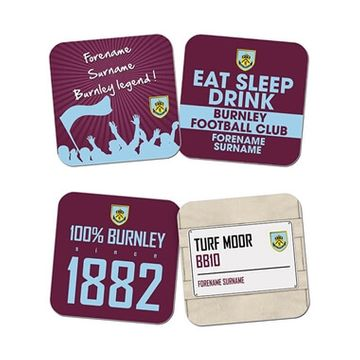 Personalised Burnley FC Coasters