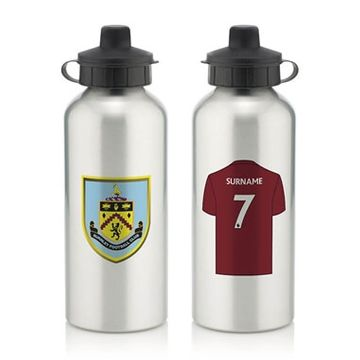 Personalised Burnley FC Aluminium Water Bottle