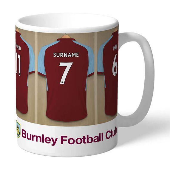 Personalised Burnley FC Dressing Room Mug