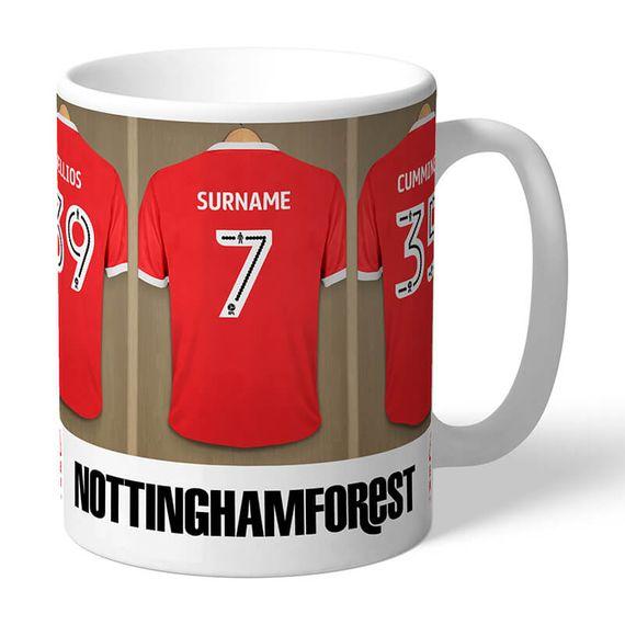 Personalised Nottingham Forest FC Dressing Room Mug