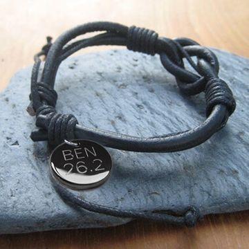 Personalised Leather Knot Bracelet