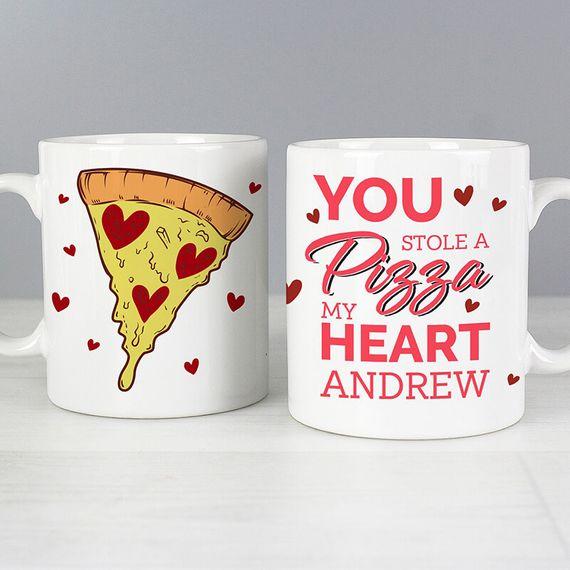 Personalised Pizza My Heart Mug