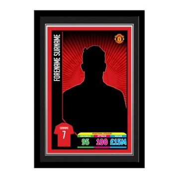 Personalised Manchester United FC Trading Card Framed Print