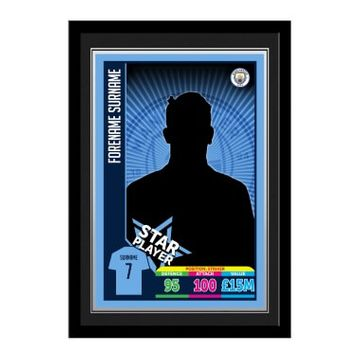 Personalised Manchester City FC Trading Card Print