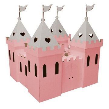 Cardboard Princess Palace - Pink and Silver