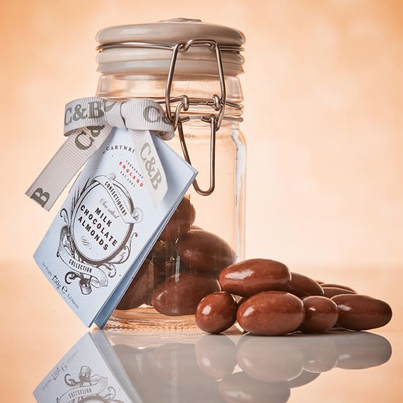 Cartwright And Butler Sea Salted Caramel Almonds In Milk Chocolate
