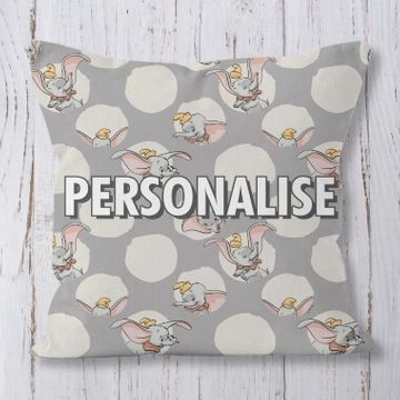 Personalised Polka Dot Dumbo Cushion