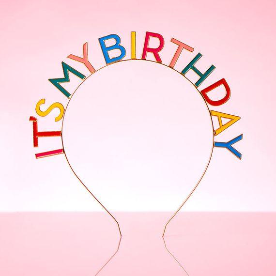 It's My Birthday Rainbow Headband