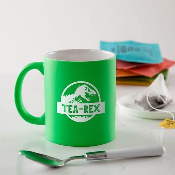 Personalised Tea-Rex Coloured Mug