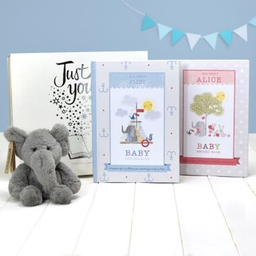 Personalised Elephant Book and Plush Toy Gift Set