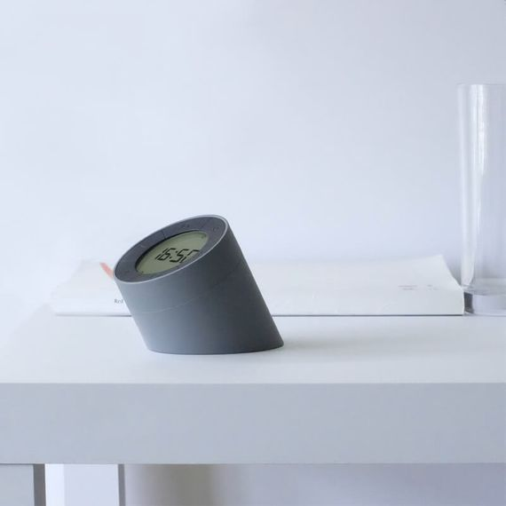 Gingko Edge Light Alarm Clock - Grey