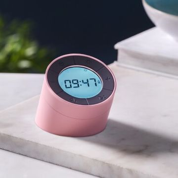 Gingko Edge Light Alarm Clock - Rose