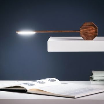 Gingko Octagon One Desk Lamp - Walnut
