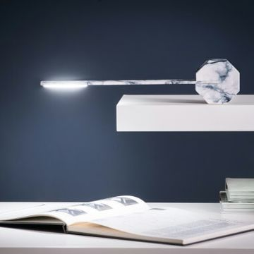 Gingko Octagon One Desk Lamp - Marble