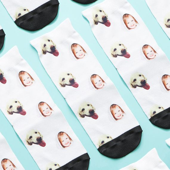 Personalised Dog and Child Children's Socks