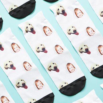 Personalised Dog and Child Children's Socks