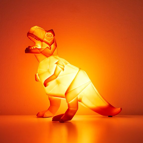 Origami T-Rex Table Lamp Orange