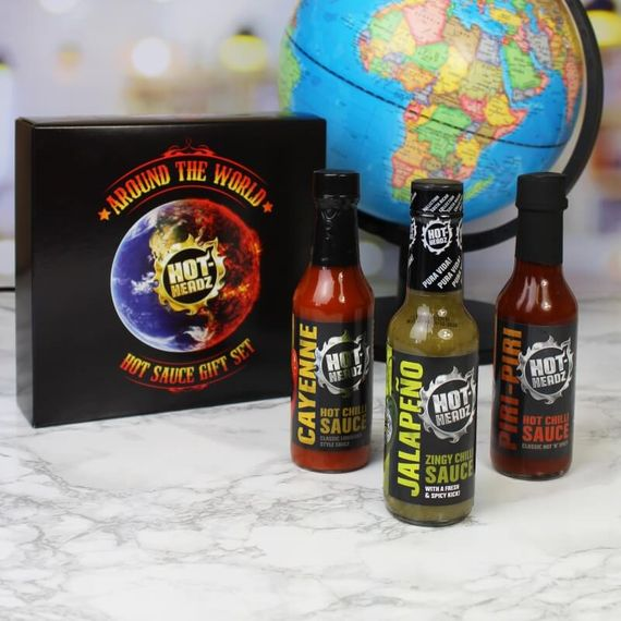 Personalised Hot-Headz Around The World Hot Sauce Gift Set