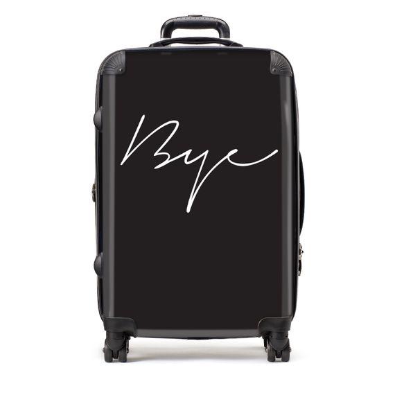 Medium Bye Black Suitcase