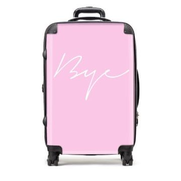 Medium Bye Pink Suitcase