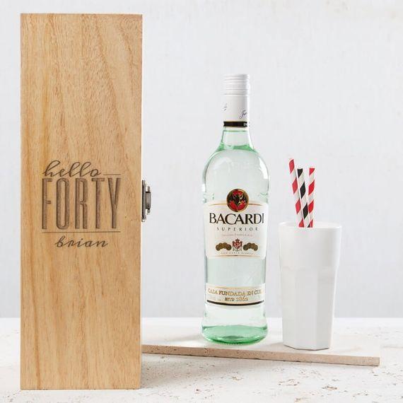 Personalised Hello Forty Birthday Wine Box