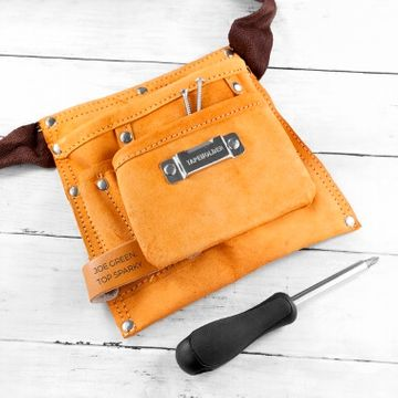 Personalised 6 Pocket Leather Tool Belt