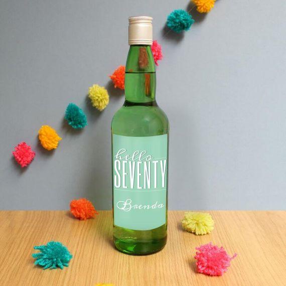 Personalised Hello Seventy Gin