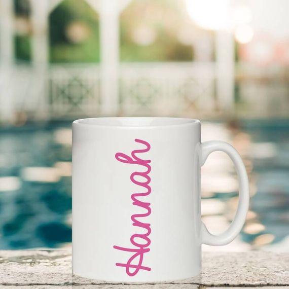 Personalised Pink Name Mug