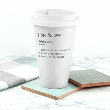 Game of Thrones Jon Snow Travel Mug