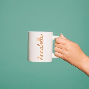 Personalised Orange Name Mug