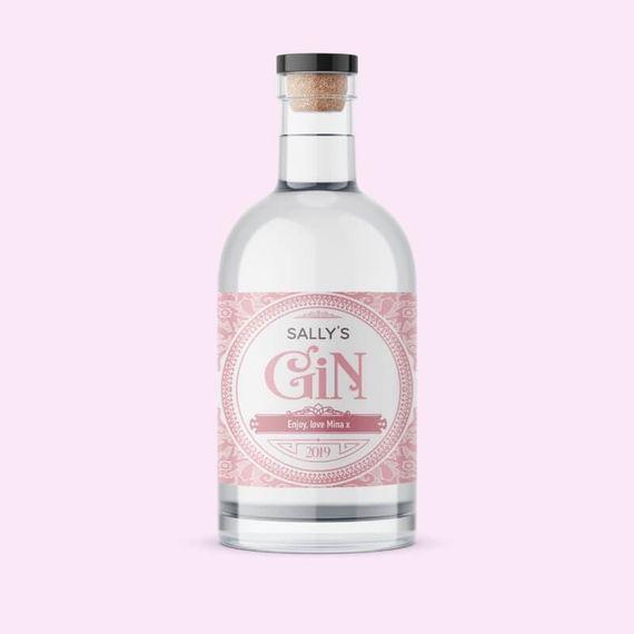 Personalised Blush Label Gin