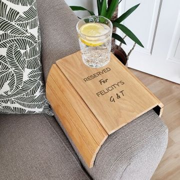 Personalised Message Sofa Tray