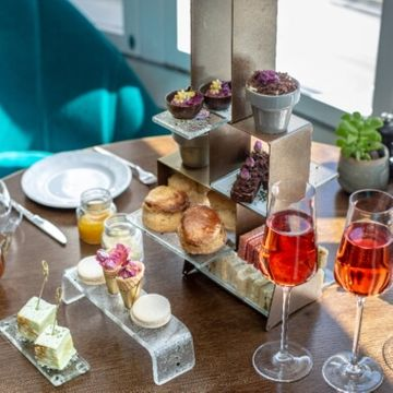 Afternoon Tea and Bottomless Bubbles for Two at London Marriott Hotel, Marble Arch
