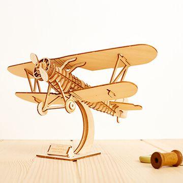 DIY Wooden Biplane Model