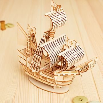 DIY Wooden Sailing Ship Model