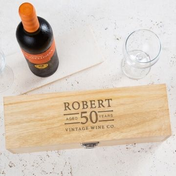 Personalised Birthday Age Wine Box
