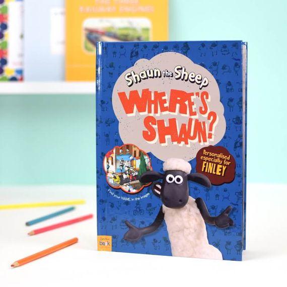 Personalised Where's Shaun the Sheep Book
