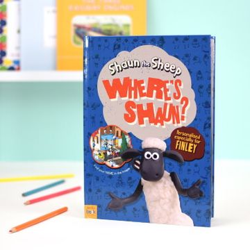 Personalised Where's Shaun the Sheep Book