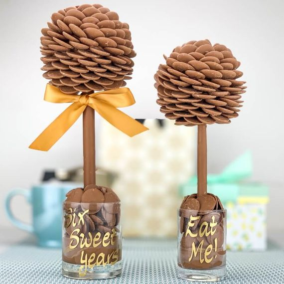 Personalised Chocolate Button Sweet Tree