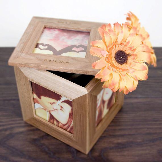 Personalised Photo Frame Keepsake Box