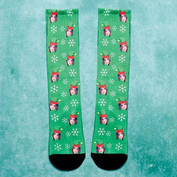 Personalised Elf Me Socks