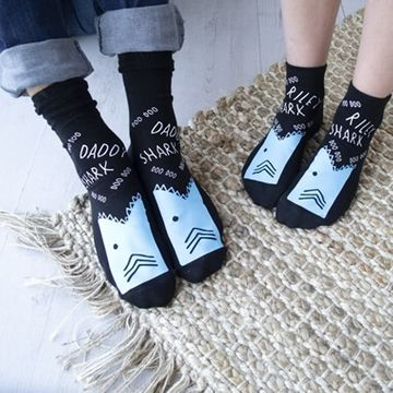 Personalised Daddy and Baby Shark Socks