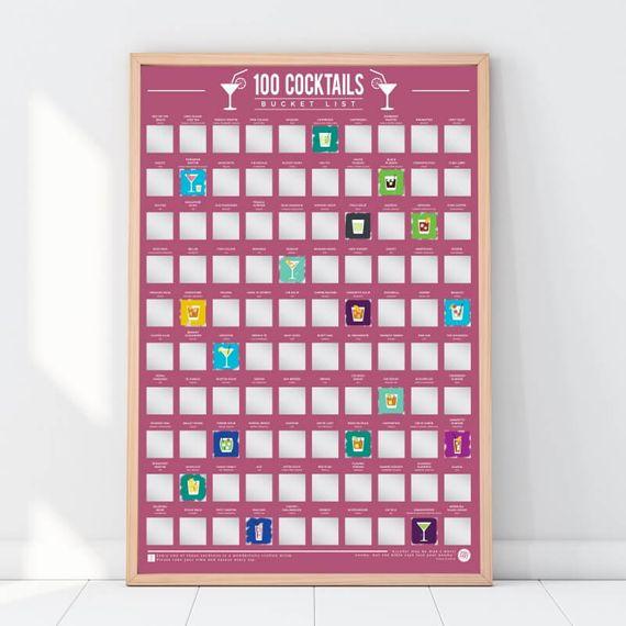 100 Cocktail Bucket List Poster