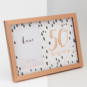 Rose Gold 50th Birthday Picture Frame